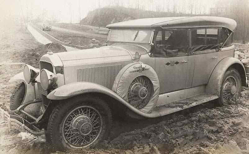 Goodrich Tire Silver Fleet's 1929 Buick Touring Test Car: According to the notes with this picture, this 1929 Buick touring (likely a 29-49) was part of a 15 car and truck run to test tires in all road conditions.  The fleet was to travel 30,000 miles leaving NY City on Jan. 23, 1929 sent off by Mayor Walker.  Fleet was expected to be on the road a year at a cost of $200,000.