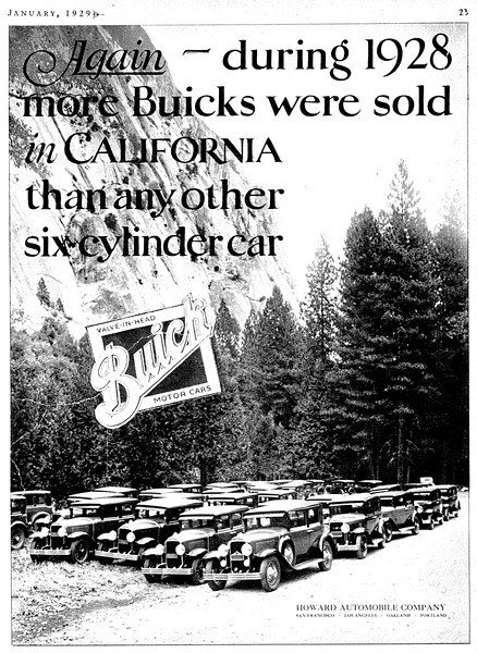 Jan. 29 Ad featuring the 37 - 1929 Buicks.