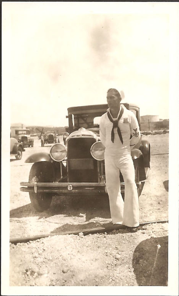 Sailor with closed 29 Buick (note 2 bar bumper)