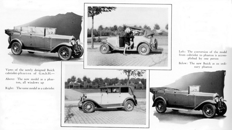 Germany - Special Convertible / cabriolet models (likely built from model 20 and 50L)