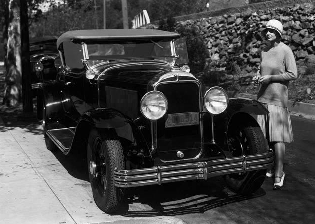 29-44 Roadster.  Note the wind-wings.