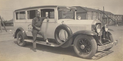 1929 Flxible Ambulance at Selfridge Field Michigan, USA