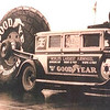 1929 Buick (Left) and 1930 Flxible bodied Buicks - used by Goodyear to tow the world's largest tire (circa 1930)