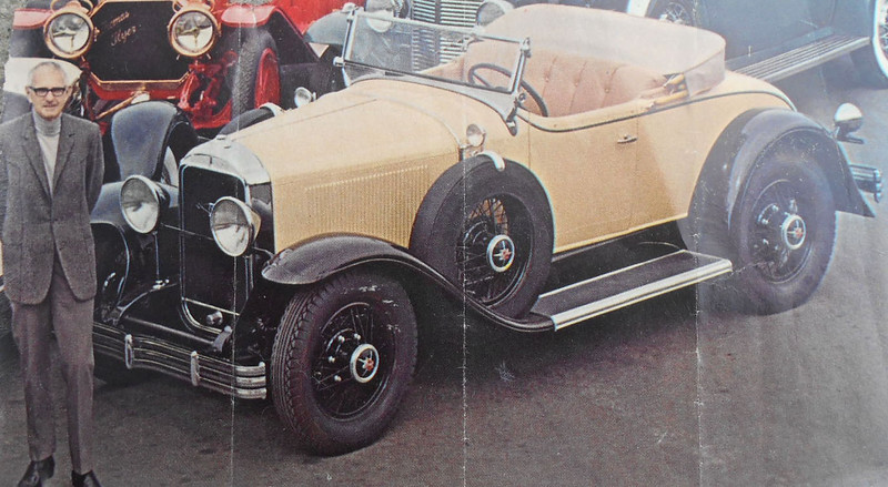 Bill Harrah & 1929 Buick Roadster (44), circa 1960