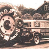 1929 Flxible bodied Buick - used by Goodyear to tow the world's largest tire (circa 1930)