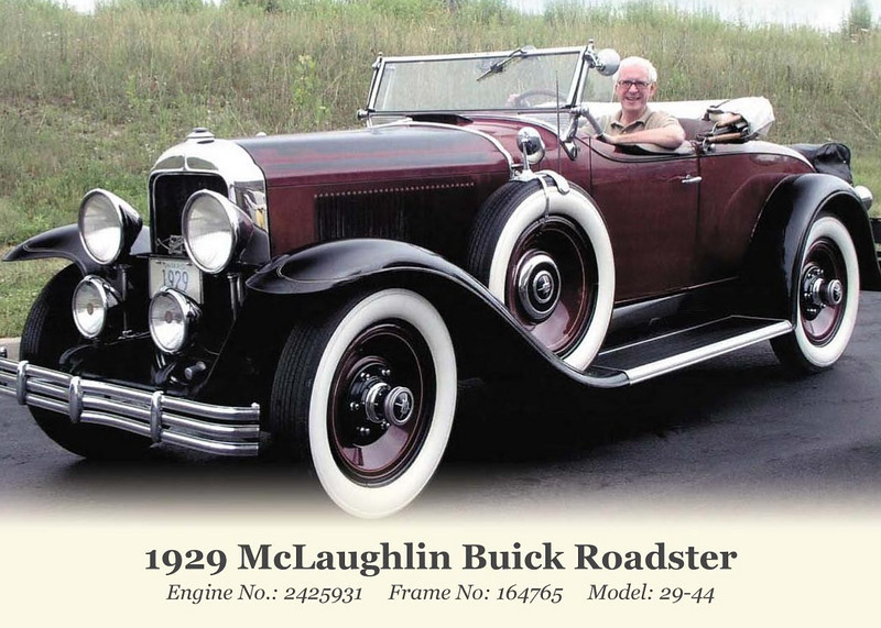 Bill McLaughlin's 1929 Silver Anniversary Buick Club Trading Card (front)