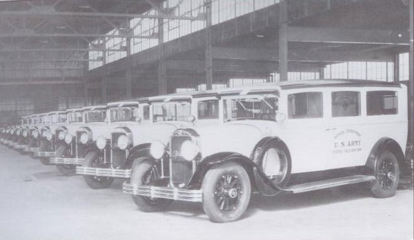 1929 Flxible-Buick Army Ambulance (from: Flxible - Professional Vehicles: The Complete History)