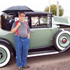 29-58 coupe.  Owned by Bruce Samoore.  Note:  Disc wheel option - rare in the USA.  (Tony Bult, who did the restoration work, stands with the car.)