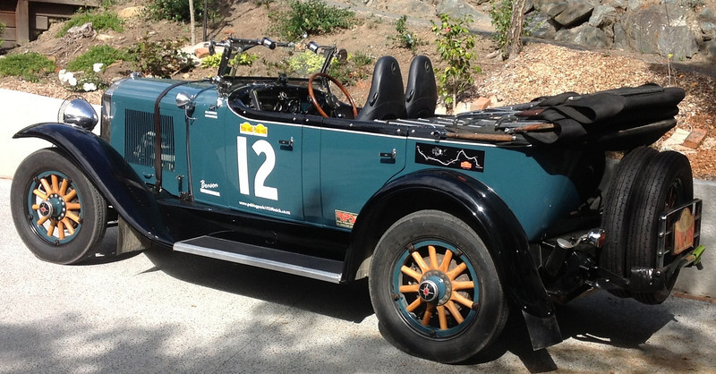 "29-25X - Owned by Jock Burridge.  ""Benson"" about to embark on his 2nd Peking-to-Paris rally, May 2013"