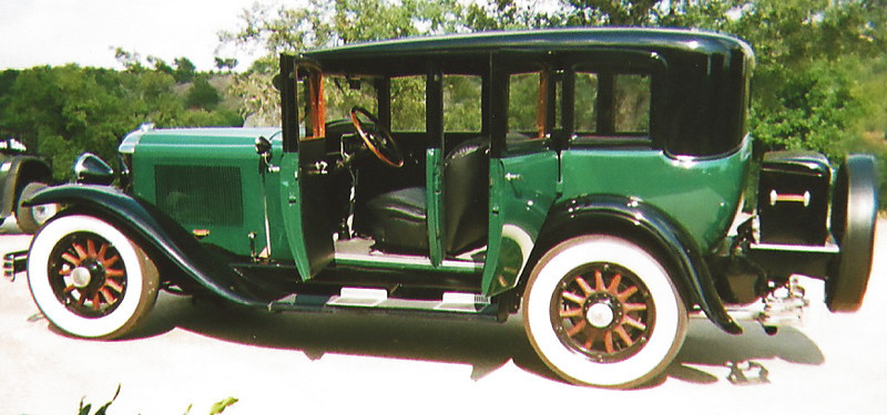 29-50 After Restoration - Owned by Edwin Justice.  Car was the Governor of Florida's limo from 1928-1932.