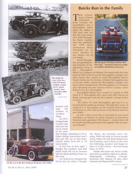 Buick Bugle - April 2009 - Bill McLaughlin's Story - Pg. # 2