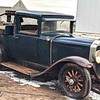 29-27X - Owned by Daryl and Heather Wallis in Australia.  Cut into Buckboard / Ute.  Early radiator cap and late hubcaps.  Chrome backed head, parking and tail lights as per all 29's in Australia.