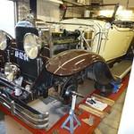 Jan van Gemert preparing his 1929 Buick model 29-44 roadster for the 2011 Italian Mille Miglia