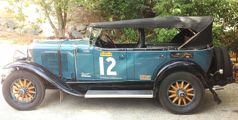 """29-25X - Owned by Jock Burridge.  """"Benson"""" about to embark on his 2nd Peking-to-Paris rally, May 2013"""