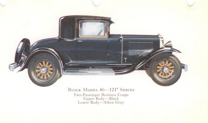 "29-46 (121"" series) - two passenger, business Coupe.  USA production: 4,339 (From:  The Buick A Complete History, 4th Edition)"