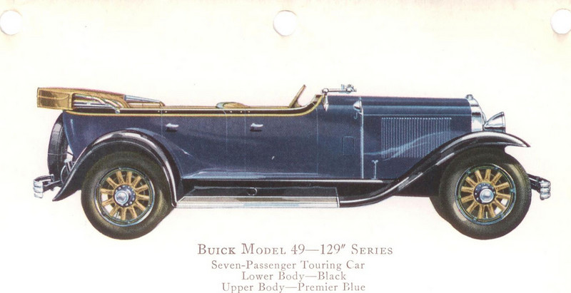 "29-49 (129"" series) - seven passenger, Touring.  USA production: 1,530 + 633 X models (From:  The Buick A Complete History, 4th Edition)"