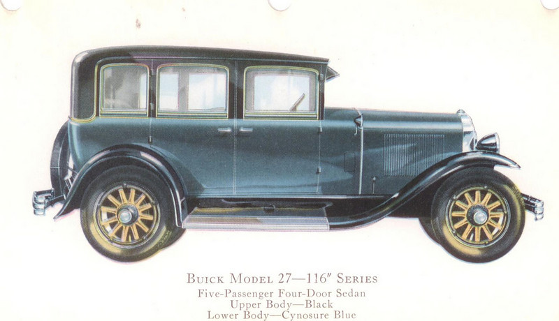 "29-27 (116"" series) - five passenger, four door Sedan.  USA production: 44,345 + 3,262 X models (From:  The Buick A Complete History, 4th Edition)"