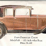 Model 29-48 - Mid-year introduction - four passenger, two door Coupe.  USA production: 4,255 (From:  The Buick A Complete History, 4th Edition) (See next Ad.)