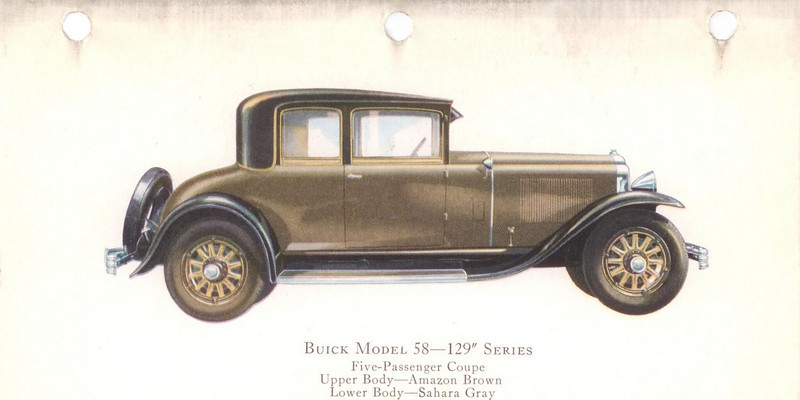 "29-58 (129"" series) - seven passenger, Coupe.  USA production: 7,311 (From:  The Buick A Complete History, 4th Edition)"