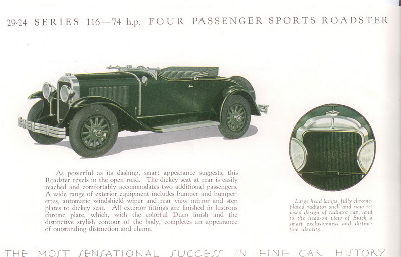 "Model 29-24 (116"" series) - Made in Australia only.  Actual production numbers unknown.  Estimate is approx.  175 - 187 (From:  The Silver Anniversary Buick in Australia by John Gerdtz)"