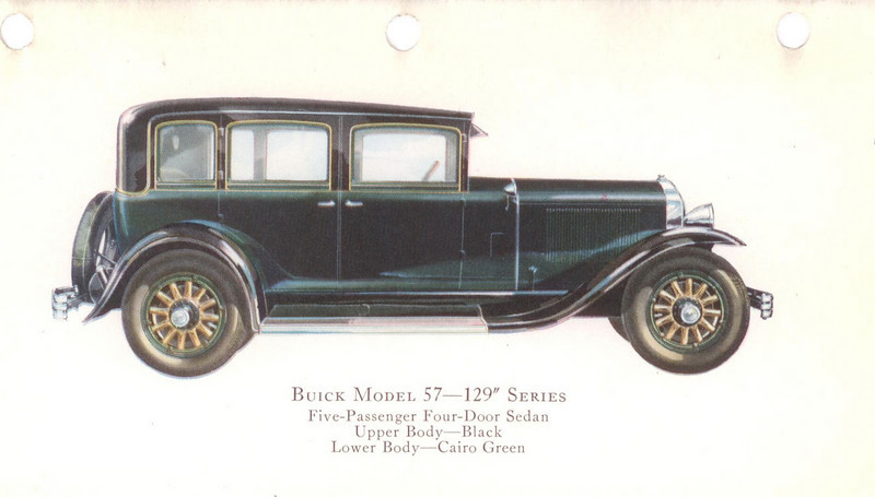 "29-57(129"" series) - five passenger, four door sedan.  USA production: 5,175 (From:  The Buick A Complete History, 4th Edition)"
