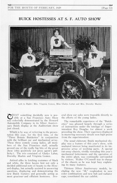 San Francisco Auto Show  (Jan. 26th - Feb. 2nd, 1929) Ad where the model 48 (mid-year introduction)  was listed.