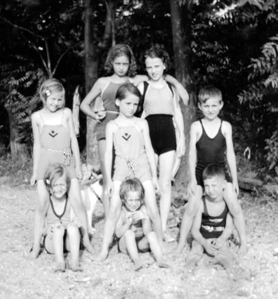 Dotty, Kay, Bernie with Cousins