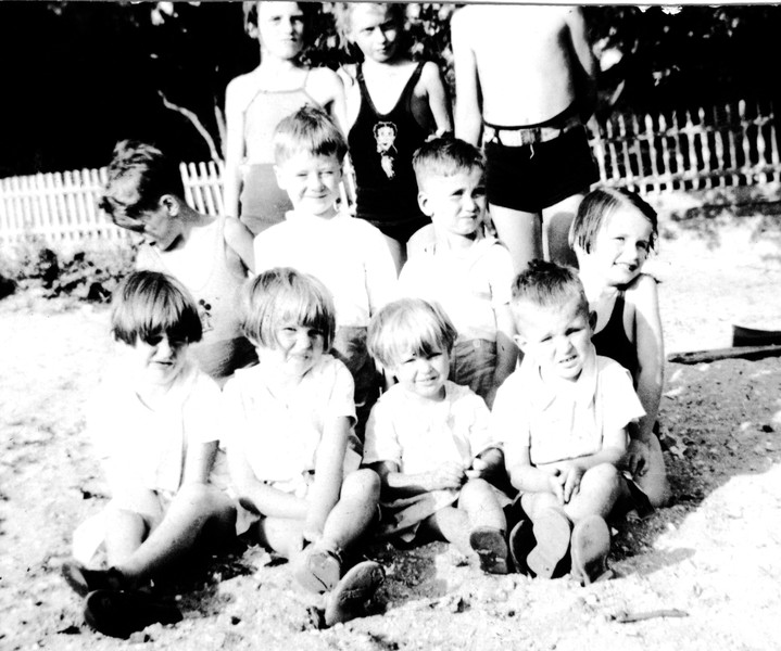 Mom's father family with some of Mom's siblings - front row l to r Aunt Dotty, Aunt Kay, Aunt CeCe & Uncle Bernie<br /> all other are cousins of Mom's on McQuillan side East Northport, NY