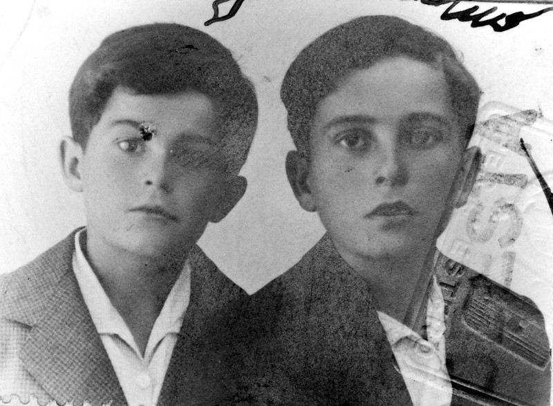 Uncle Sam age 8 and Uncle Gaetano age 12