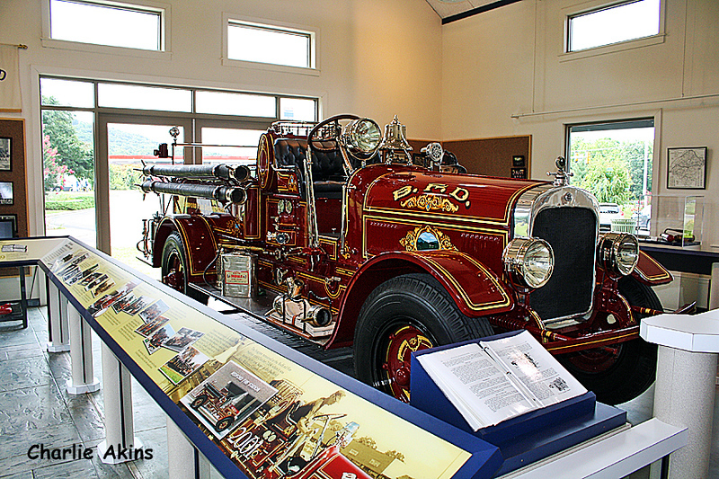 Impressive fire engine at the welcome center