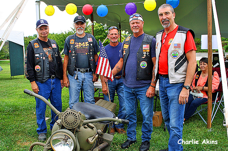 I saw these motorcyclists at the festival.