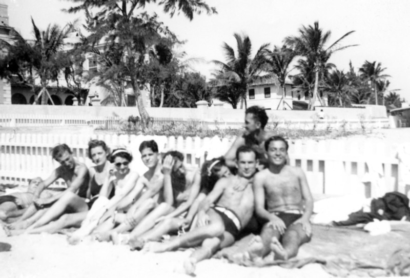 Uncle Gaetano in Florida, last on right