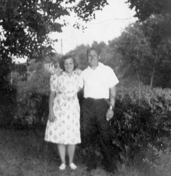 Nanny and husband, East Northport, NY, July 27, 1941