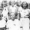 l-r, t-b, Kay, Nanny, Dotty, Cece, Mom, Ray, Grandma