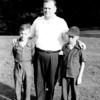 Bernie, Father Vivien and friend, Columbus, OH July 1942