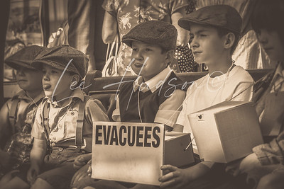 Evacuees at the station