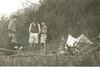 (standing l - r) Tony Bate, Bernard Haestier, John Martin