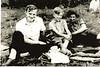 (L-R) Fr Fooks (curate at St Edmund's, John Parkin, Muriel Love (Gaffer's Wife)
