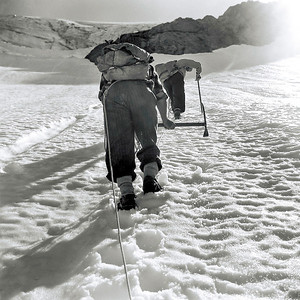 1952 en route to Mt Ward summit