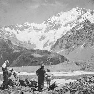 1951 up the Tasman Glacier