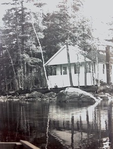 Cabin #106 from the water, 1950