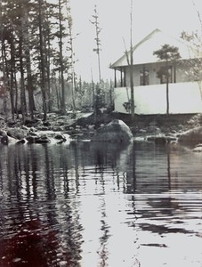Cabin #105 from the water, 1950