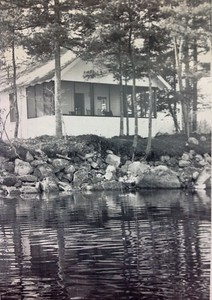 Cabin #103 from the water, 1950
