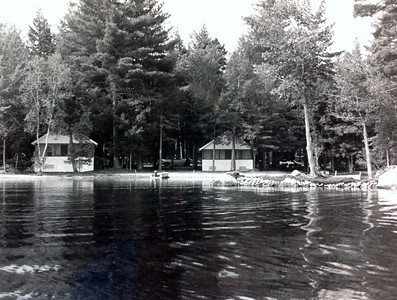 Cabins #107, 108 from water, early 1950's