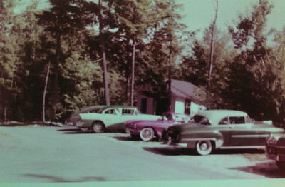 Storehouse with our 1956 Buick and other classic cars, 1958