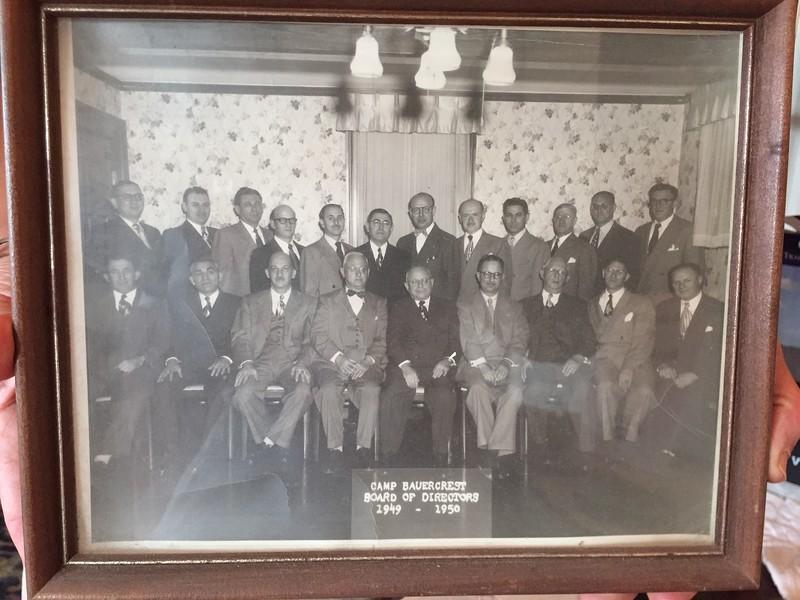 1950 Camp Bauercrest Board of Directors