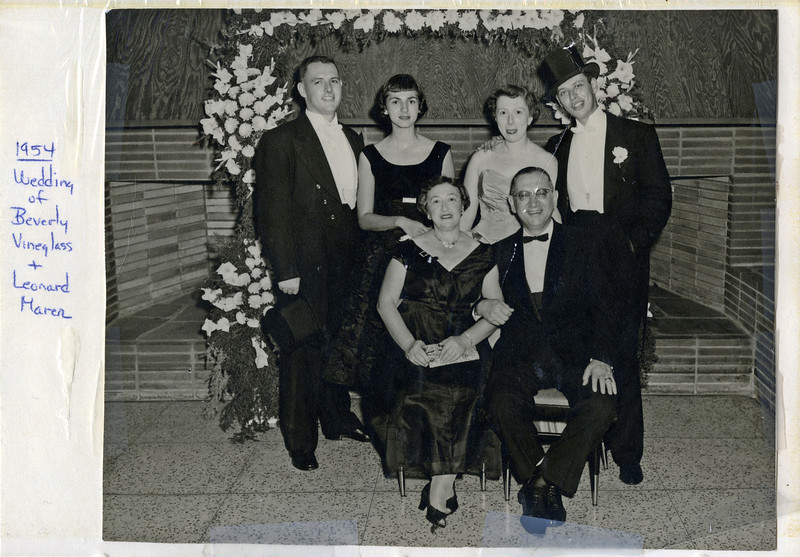 1954 Al Weiners at Beverly Vineglass Wedding
