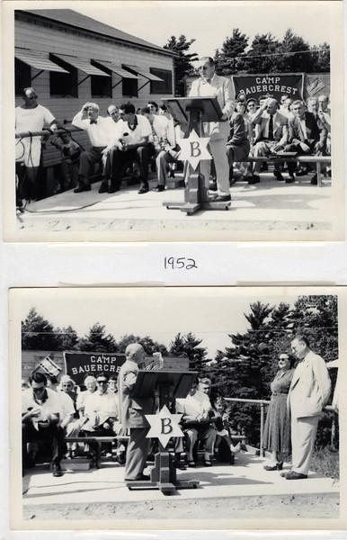 1952 Al Weiner honored at Camp Bauercrest