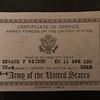 1959 Ed Weiner, Army Discharge