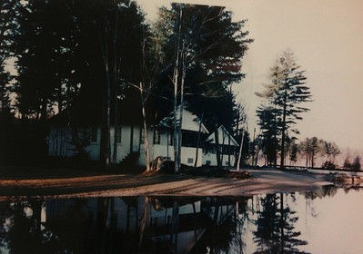Cabin #107 from water, early 1960's